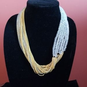 Crystal & Chain Necklace